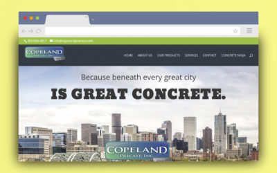 Copeland Precast WordPress Site