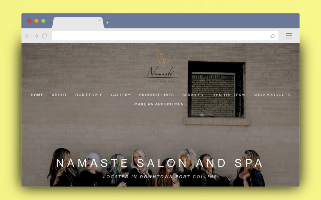 Namaste Salon Squarespace Site