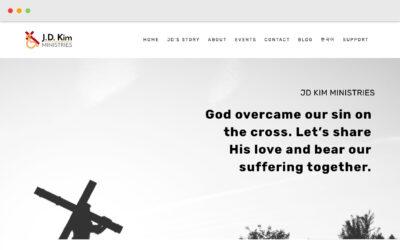 J.D. Kim Ministries Squarespace Site