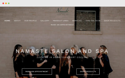 Namaste Salon Squarespace Site