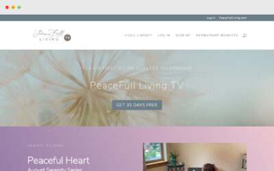 PeaceFull Living TV WordPress Site
